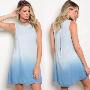 Dresses - Blue Boho Flowy Dress